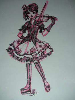 Gothic Lolita Rose Stripped