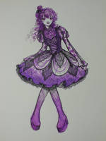 Purple Loli Dress Design by Delight046