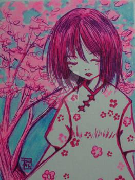 Trading Card Cherry Blossom