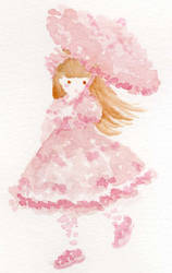 Pink Watercolor Lolita by Delight046