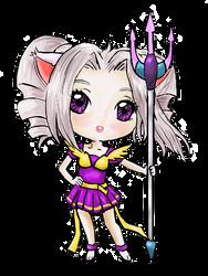 Purple Kitteh Girl by Delight046