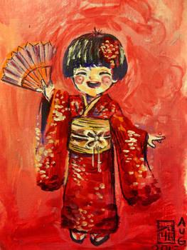 Happy Japanese Girl