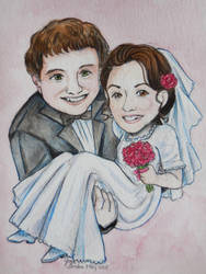Wedding Card to the Happy Couple by Delight046