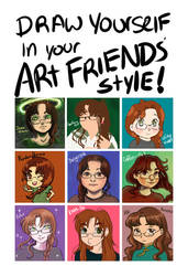 Draw Yourself In Your Art Friends Style! by Delight046