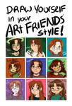 Draw Yourself In Your Art Friends Style!
