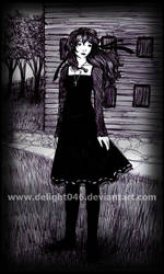 .: Gothic Girl Attempt :. by Delight046