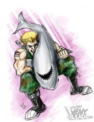 Guile Piledriving A Shark