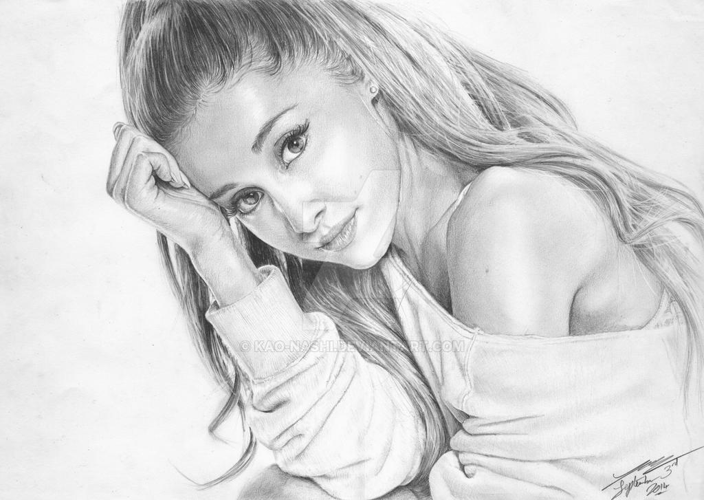 Ariana Grande Pencil Sketch | Www.pixshark.com - Images Galleries With A Bite!