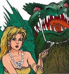 lady and dragon by taiyosagawa