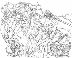 Doomseed 1 Cover line art