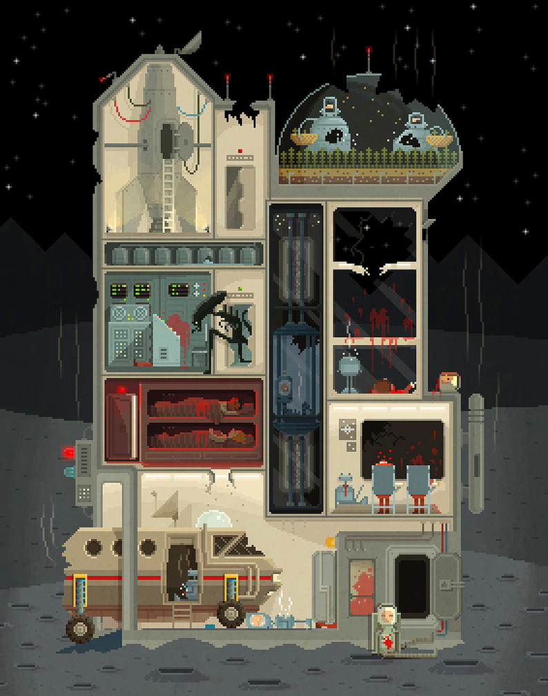 Moon Base (Halloween Edition) by octavinavarro