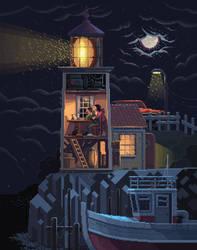 Scene #34: 'Lighthouse' by octavinavarro