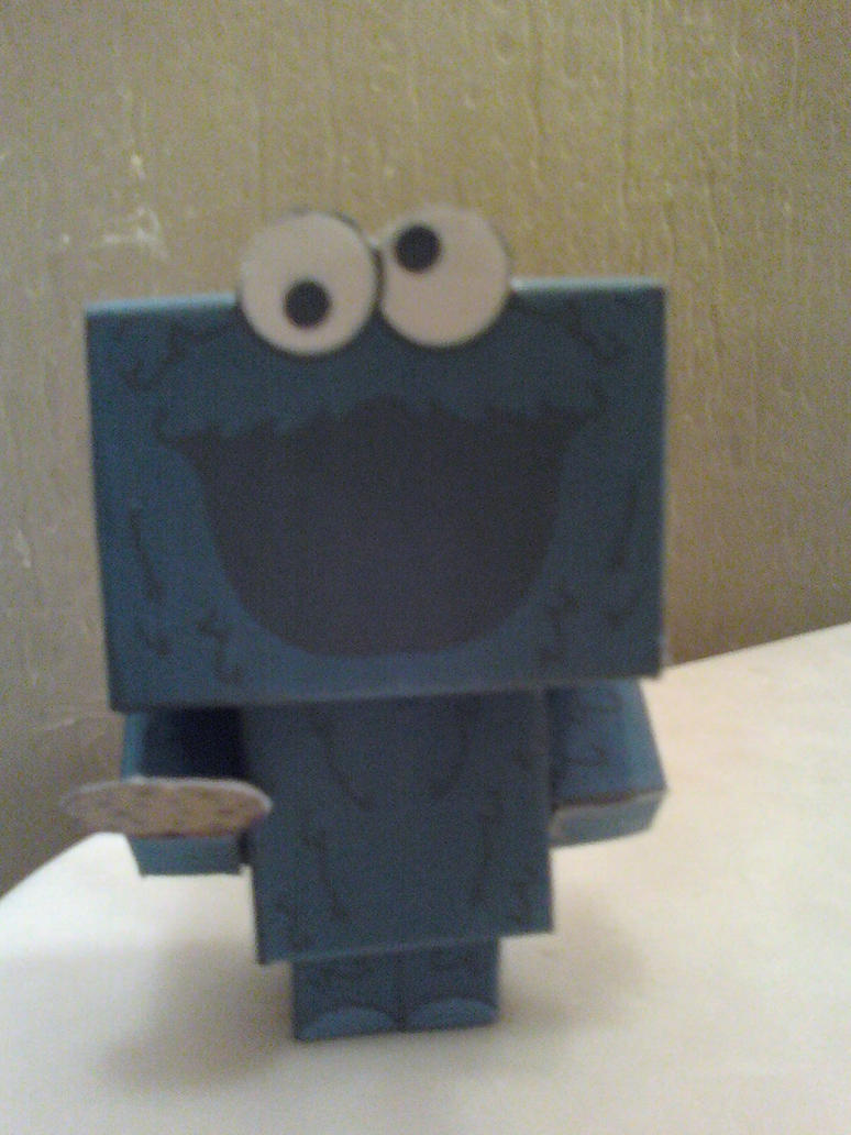 Cookie Monster Cubee Finished by rubenimus21