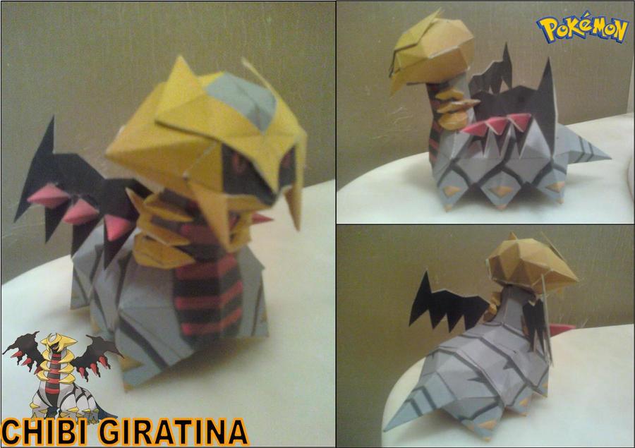 Chibi Giratina Papercraft Finished by rubenimus21