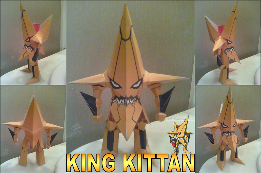 King Kittan Papercraft Finished by rubenimus21