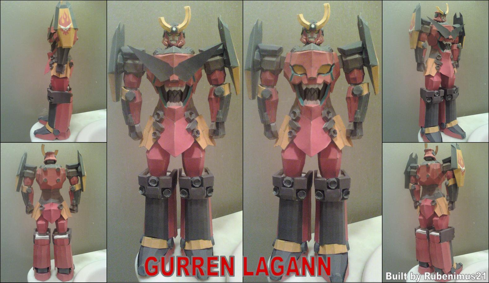 Gurren Lagann Papercraft Finished by rubenimus21