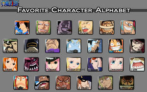 One Piece Favorite Character Alphabet