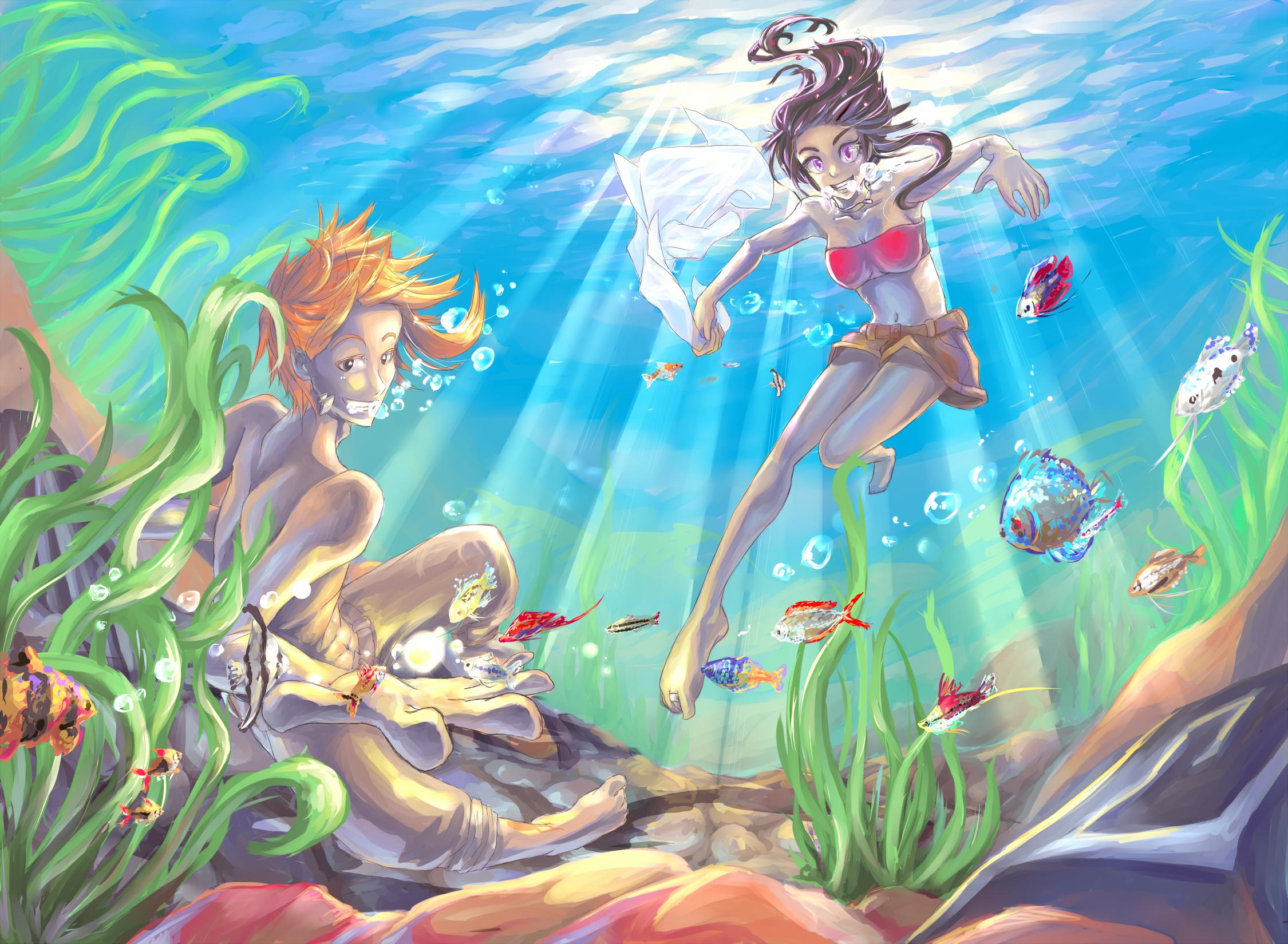 Remake wallpaper underwater by JMystique on DeviantArt
