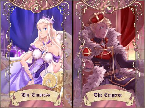 Fairy Fest Tarot: The Emperor + Empress