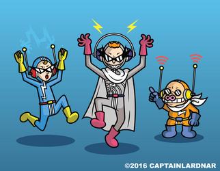 Shock, Wave and Hogspot by CaptainLardNar