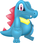 First Totodile Artwork
