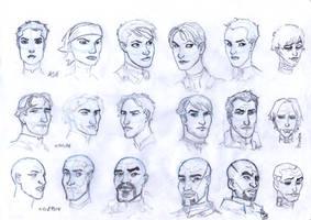 Mass Effect - Character Studies