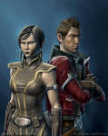 Theron and Satele Shan