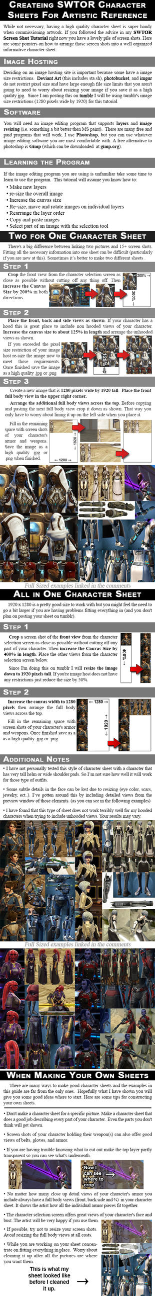 SWTOR Character Sheets For Artistic Reference by Vixen11