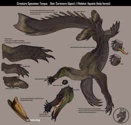 Creature design: Tarpus by Avian-king