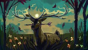 A daunting dart? Deer me!