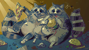 Junk foods and fat raccoons