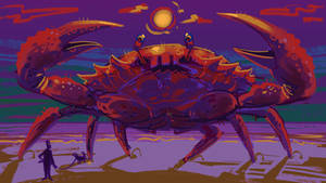 Just a giant crab getting peed on