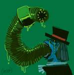 Doodle Monster: Festering Jawbreaker Grub by MisterFeelgood
