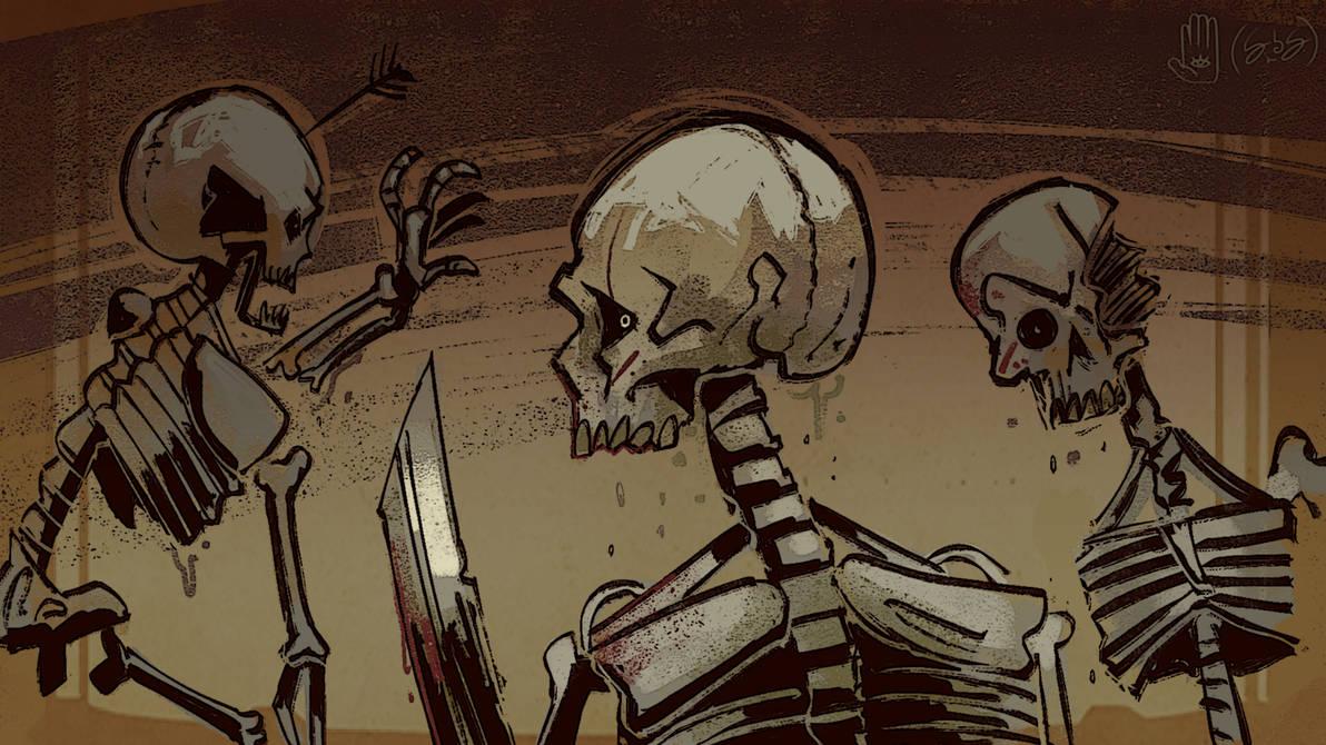 Elsewhere Etching: Skeleton