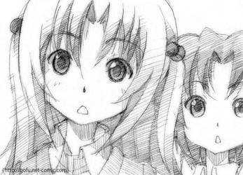 Uchida and Yoshino by gofu-web
