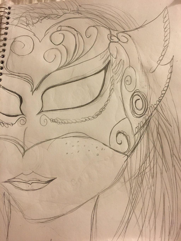 Masquerade Ball Girl Drawing By Rosestocking27