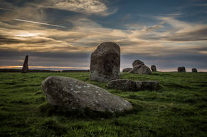 Long meg and daughters at the sunset