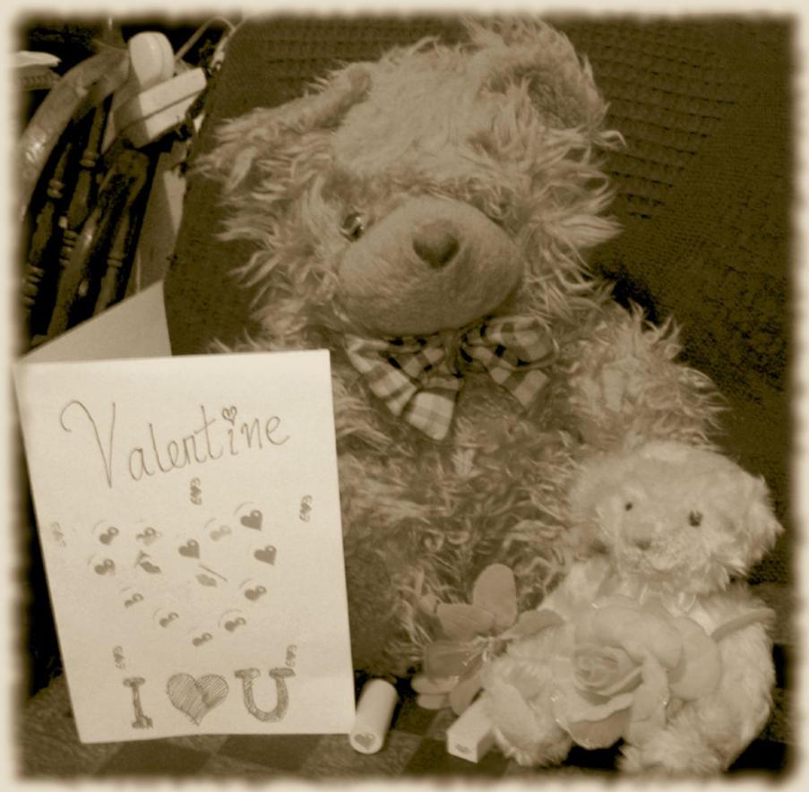 Teddy bear love by Princess-Amy