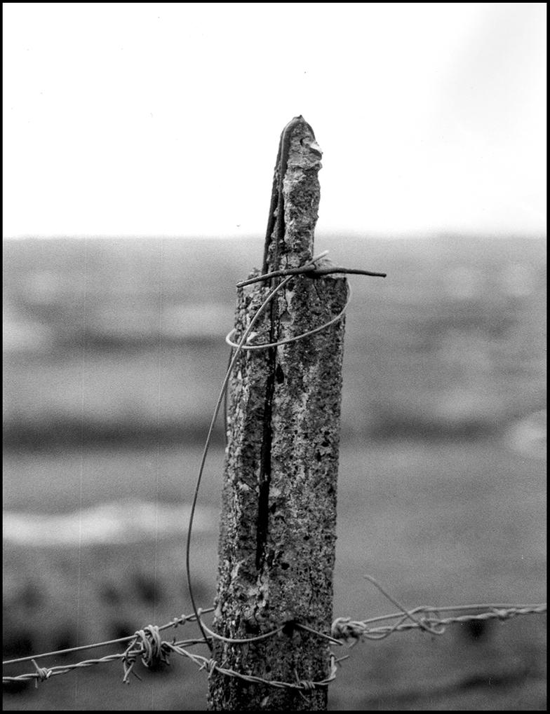 Broken fence post twisted wire by Princess-Amy on DeviantArt