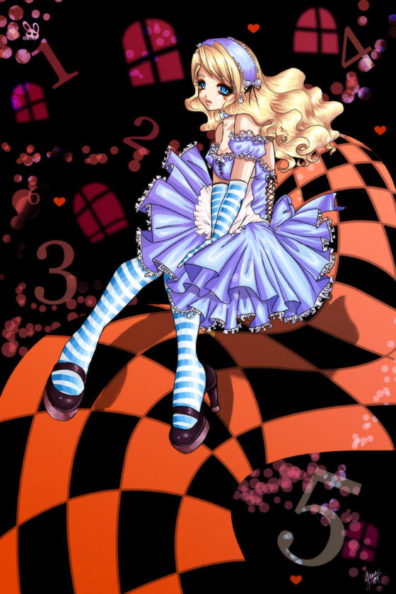 Alice Lovely Falling by bw-inc