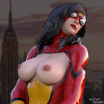 Spider-Woman Tits by nordfantasy