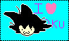 Goku Fangirl Stamp by Soniclover2010
