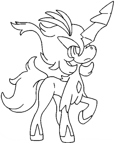 pokemon keldeo coloring pages - photo#4