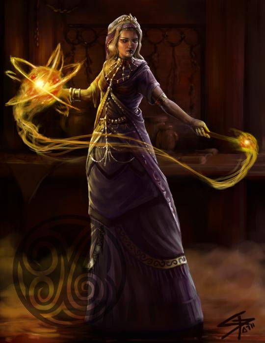 Female Wizard by Herckeim