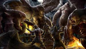 Gargoyles Attack by Herckeim