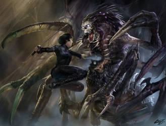 Aiko Fights Eksillorn by Herckeim