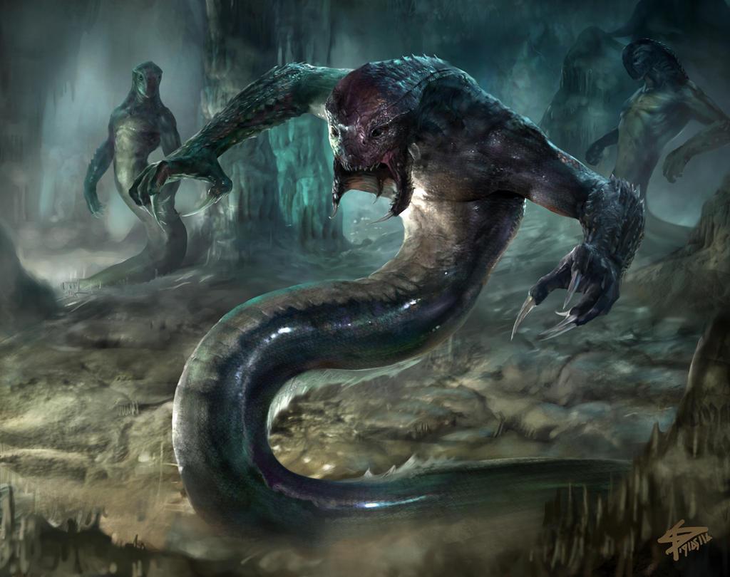Dark Erechtheid Naga