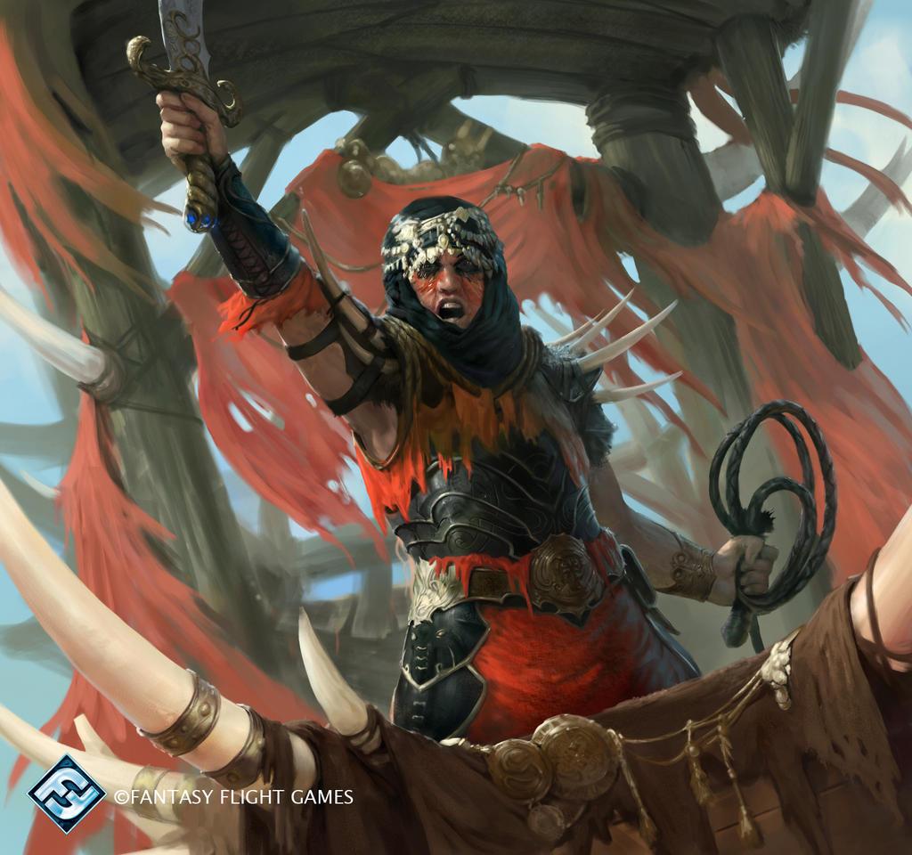 Description des lieux et monstres présents Haradrim_captain_by_herckeim-dabln9o