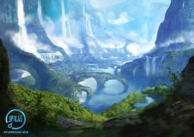 Les Cascades Celestes by Herckeim