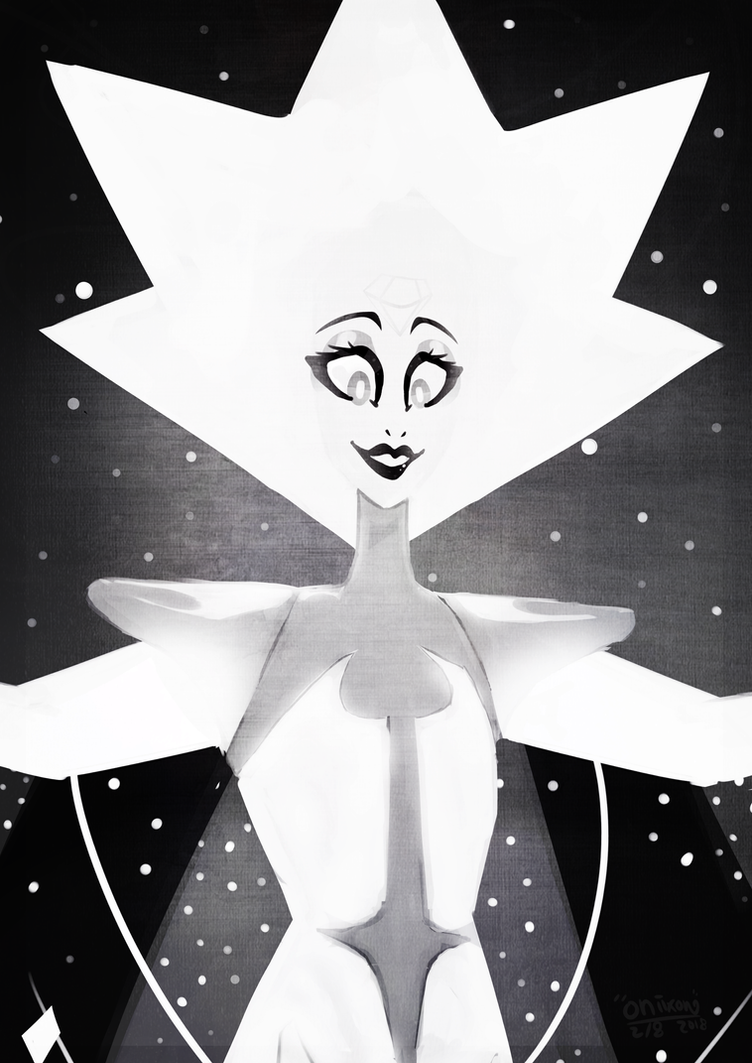 Sorry for the inactivity  been busy / gone on vacation But Im home now! I started on this drawing on white diamond // Steven universe  the day after she appeared on the show~ But ya I hav...